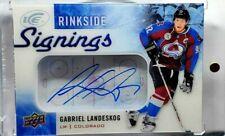 2015-16 Upper Deck Ice Gabriel Landeskog Rinkside Signings Auto Sweden Avalanche