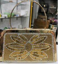 Flower Crystal Evening Bags Special Design Handbag Girl's Party Purse Wedding