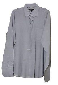 Stacy Adams Men's Long Sleeve White/ Black Polka Dot Dress Shirt Size 18: 38/39