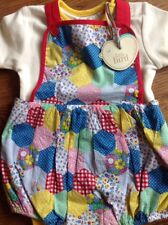 Little Bird By Jools Oliver 0-3 Months Bodysuit & Short Dungarees Set  Bnwt 🍄🌈
