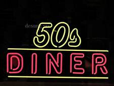 """New 24 Hours 50'S Diner Open Beer Bar Lamp Light Neon Sign 24""""x20"""""""