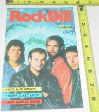 Rock Bill Magazine Feb 1986 Mike Mechanics Kate Bush Inxs Woody Alternative Pop