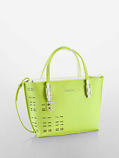 calvin klein hailey perforated studio tote margarita without shoulder straps