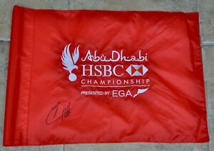 Abu Dhabi HSBC Championship Golf Flag Signed By Tyrrell Hatton With Photo Proof