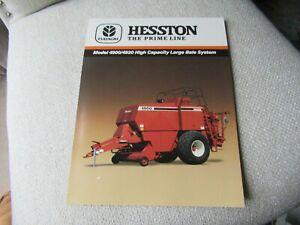 1987 Hesston 4900 4920 baler specification sheet brochure