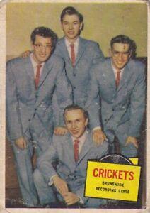 "BUDDY HOLLY & the CRICKETS - 1957 TOPPS "" hit stars ""  RECORDING  stars card"