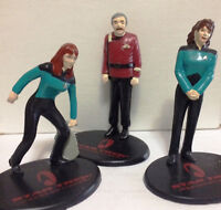 3 Star Trek Generations Movie Figures 1994 Applause - Crusher, Troi and Scotty