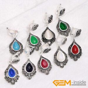 Drip 925 Silver Charms Pendant Silver Marcastie Huggie Wedding Dangle Earrings