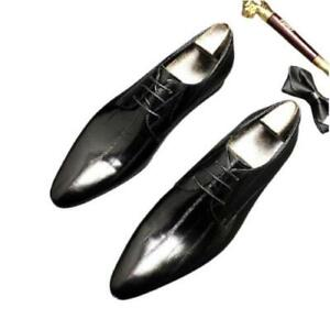 British Mens Real Leather Business Leisure Shoes Oxfords Work Derby Wedding 44 L