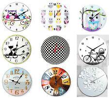 Retro Shabby Chic & Modern Wall Clock Kids Room Home Decor