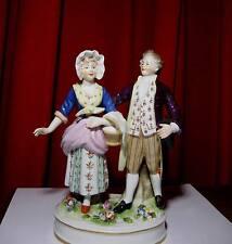FIGURINE PORCELAINE SAXE Volkstedt- Rudolstadt Couple goût du XVIIIè siècle 1900