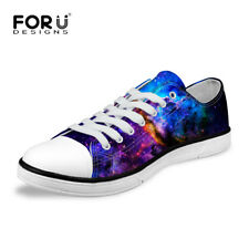 Galaxy Designs Mens Low Tops Sneakers Canvas Shoes Casual Lace up Walking Loafer