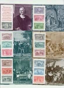 THE VOYAGES OF COLUMBUS 1992 16 U.S. POSTAGE STAMPS IN 6 SOUVERIN SHEETS