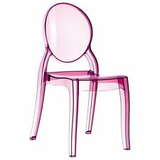 Compamia Elizabeth Polycarbonate Patio Dining Chair in Pink