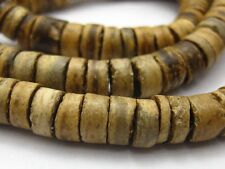 "2 Strands of 22"" Natural Coconut 8mm Heishi Beads"