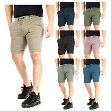 Mens Chino Shorts Roll Up Stretch Cotton Slim Fit Casual Summer Twill Size 32-42