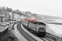 PHOTO  DIESEL LOCO AT  DAWLISH 1975