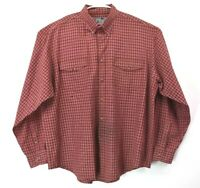 Cool Lock By Wrangler Men's XXL Vintage Button Down Long Sleeve Plaid Shirt Red