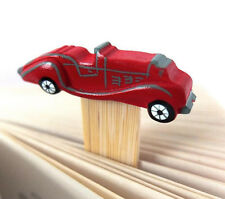 RED SPORTS CAR BOOKMARK. HAND CRAFTED & PAINTED IN WOOD. PARTY BAG FILLER IDEA.
