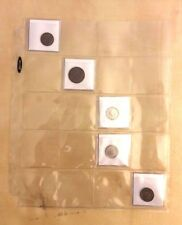 2x Coin Holder Pages Letter Sized with Twenty Pockets Fits in a 3 Ring Binder