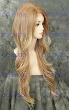 Light Blonde Mix Long Wavy Heat OK Lace Front Synthetic Hair Wig WBKI T27/613