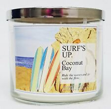 1 Bath Body Works SURF'S UP COCONUT BAY Surfs Large 3-Wick Candle 14.5 oz