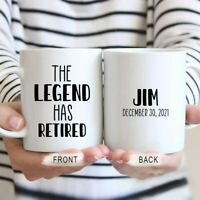 The Legend Has Retired Mug Retirement Gift For Man Coworker Retired Gift Dad