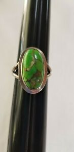 Mojave Green Turquoise Ring Size 9.5