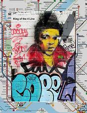 "LOT OF 2 COPE 2 et al PHOTOGRAPH POSTER 8 1/2""X 11"" SOHO NYC SUBWAY MAP GRAFFITI"