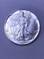 1987 AMERICAN SILVER EAGLE UNCIRCULATED 1 OZ. SILVER BULLION *LOOK PHOTO'S*