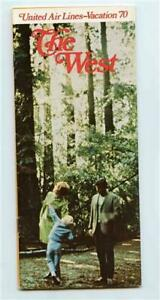 United Air Lines The West Vacation Brochure 1970