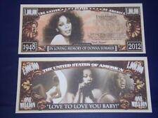 UNC.DONNA SUMMERS NOVELTY NOTE ONLY .25 SHIPPING FREE SHIP + FREE NOTES!