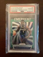ZION WILLIAMSON 2019 Panini Prizm ROOKIE Emergent GREEN PRIZM  PSA 10 GEM MT