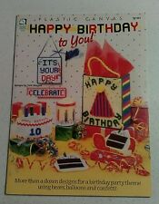 House Of White Birches Happy Birthday To You! Plastic Canvas Pattern Blizzard