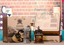 New Manual Coffee Grinder + Coffee Pot Cafetiere Gift-Box