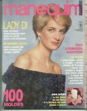 MANEQUIM -  LOT 2 MAGAZINES (LADY DI / XUXA) SEWING PATTERNS INSIDE -  BRASIL