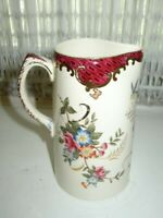 Antique, Rare, Chelsea Birds and Floral Pitcher