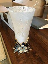 Jay Strongwater Kyla Leaf Base Crystal Large Vase