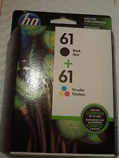 HP 61 Original oem color & Black ink cartridge combo Pack 2018 OEM CR259FN
