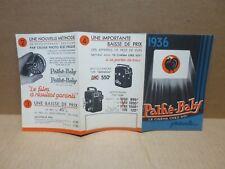 PATHE BABY  publicité illustrée Nouvelle Motocaméra type ROYAL