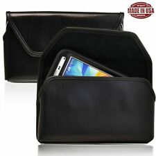 Turtleback Samsung Galaxy S5 Leather Pouch Holster Black Clip Fits OtterBox Case