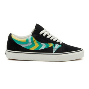New Vans Old Skool Warp Black/Marine Green Sneakers Low-Top Skate Shoes 2020