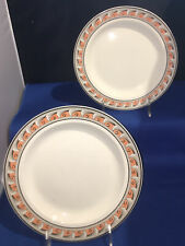 Pair Antique Early 19th century English Wedgwood Creamware Pearlware Plates 8�D.