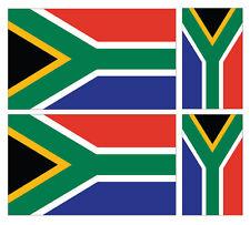4 X SOUTH AFRICAN FLAG VINYL CAR VAN IPAD LAPTOP STICKER