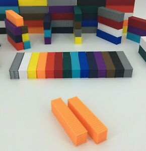 NEW (2) 40' Shipping Containers - Z Scale 1:220 - ORANGE - ALL COLORS AVAILABLE!