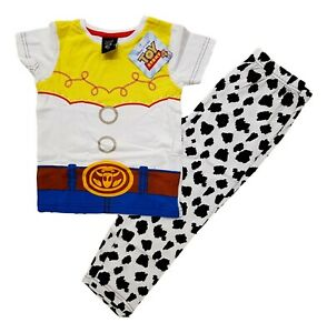 Girls Toy Story Pyjamas Jessie Cowgirl Pajamas PJs Set Short Sleeve Kids Cotton