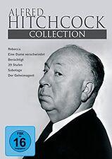6 Box ALFRED HITCHCOCK frühe Film REBECCA Famigerato 396 POSIZIONI 3 DVD nuovo