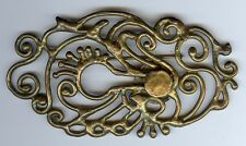LARGE 1970'S VINTAGE MOD DESIGN CAST BRASS PIN BROOCH