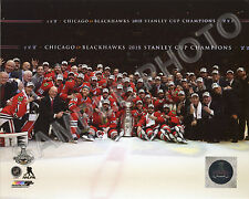 2014-2015 CHICAGO BLACKHAWKS STANLEY CUP CHAMPIONS 8X10 TEAM PHOTO #2
