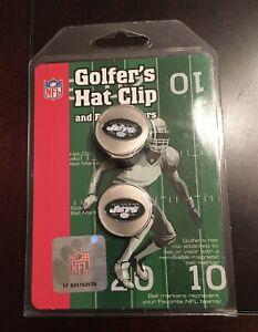 "NEW MCARTHUR TOWEL & SPORTS NFL ""NEW YORK JETS"" GOLFER'S HAT CLIP FAN LOGO"
